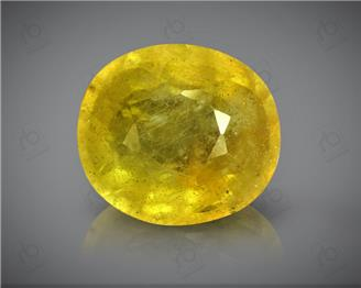 Natural Heated & Treated Yellow Sapphire Certified 5.04 (CTS) ( 88611 )