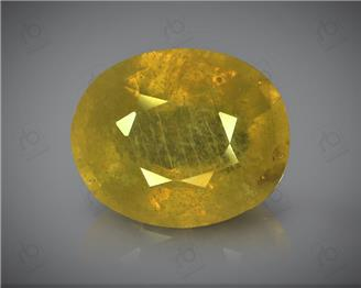 Natural Heated & Treated Yellow Sapphire Certified 5.56 (CTS) ( 88627 ) (D)