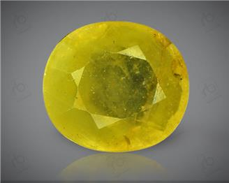 Natural Heated & Treated Yellow Sapphire Certified 6.11 (CTS) ( 71778 )