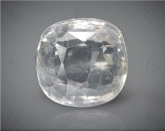 Natural Unheated & Untreated Certified White Sapphire  3.24 cts. ( 4430 )