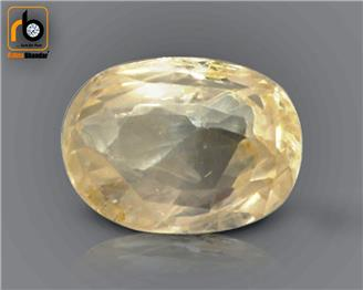 NATURAL UNHEATED UNTREATED Certified Yellow Sapphire / Pukhraj 3.66 cts. ( 67260 )