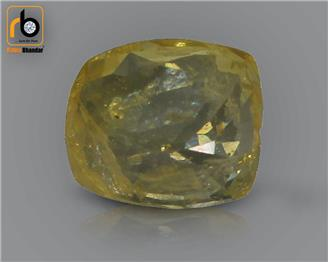 NATURAL HEATED TREATED  Yellow Sapphire / Pukhraj 3.38 cts. ( 67174 )
