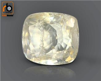 NATURAL UNHEATED UNTREATED  Yellow Sapphire / Pukhraj 3.17 cts. ( 4371 )
