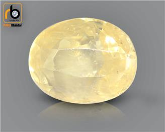 Natural Unheated & Untreated Certified Yellow Sapphire (Pokhraj) 5.13 cts. ( 19989 )