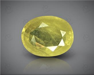 Natural Heated & Treated Yellow Sapphire Certified 4.63 CTS (0200)