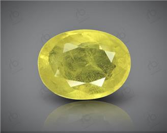 Natural Heated & Treated Yellow Sapphire Certified  4.22 CTS (0218)