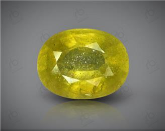 Natural Heated & Treated Yellow Sapphire Certified  3.83 (CTS) ( 71865 )