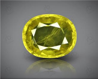 Natural Heated & Treated Yellow Sapphire Certified 5.13 (CTS) ( 42977 )
