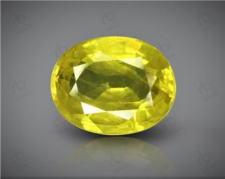 Natural Heated & Treated Yellow Sapphire Certified 4.15 carats (DIN 84653 )