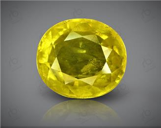 Natural Heated & Treated Yellow Sapphire Certified 4.07 carats (DIN 84659 )