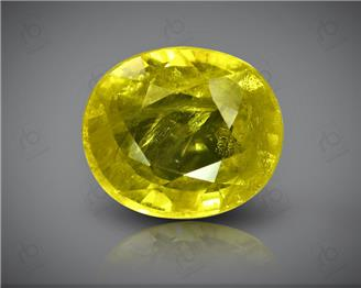 Natural Heated & Treated Yellow Sapphire Certified 4.23 carats (DIN 84670 )