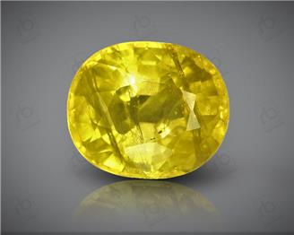 Natural Heated & Treated Yellow Sapphire Certified 3.77 (CTS) ( 85554 )