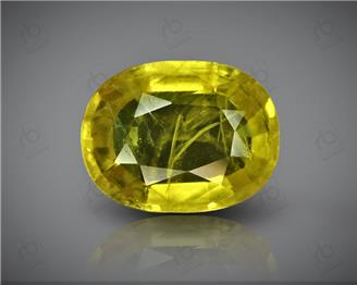 Natural Heated & Treated Yellow Sapphire Certified 5.05 (CTS) ( 85560 ) (D)