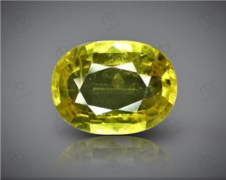 Natural Heated & Treated Yellow Sapphire Certified 3.36 (CTS) ( 85564 )