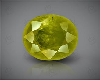 Natural Heated & Treated Yellow Sapphire Certified 3.43 CTS (DIN 86100 )