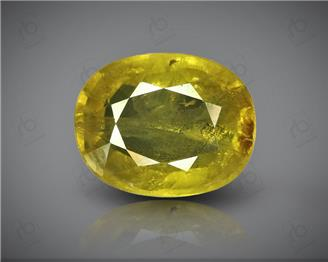 Natural Heated & Treated Yellow Sapphire Certified 4.56 CTS (DIN 86152 )