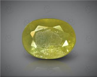 Natural Heated & Treated Yellow Sapphire Certified 5.26 CTS (DIN 86161 )