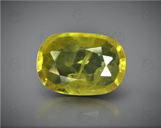 Natural Heated & Treated Yellow Sapphire Certified 4.04 CTS (DIN 86210 )