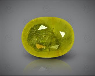Natural Heated & Treated Yellow Sapphire Certified 4.07 carats -96559