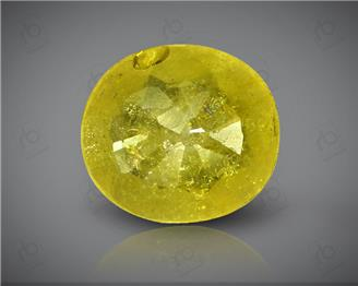Natural Heated & Treated Yellow Sapphire Certified  3.67 (CTS) ( 88607 )