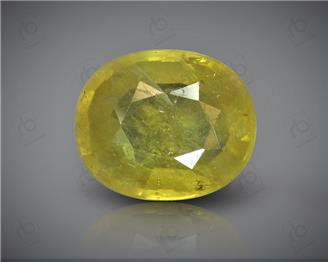 Natural Heated & Treated Yellow Sapphire Certified 3.99 (CTS) ( 88609 )