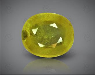 Natural Heated & Treated Yellow Sapphire Certified 5.99 (CTS) ( 88615 )
