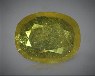 Natural Heated & Treated Yellow Sapphire Certified 6.40 (CTS) ( 71779 )