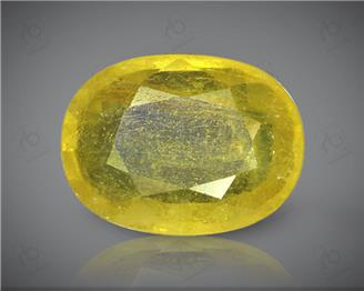 Natural Heated & Treated Yellow Sapphire Certified 3.87 (CTS) ( 71856 )