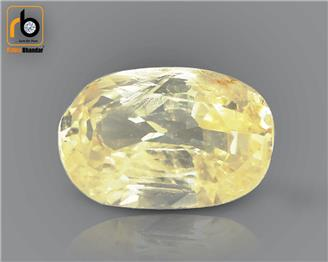 Natural Unheated & Untreated Certified Yellow Sapphire  3.02 cts. ( 67271 )