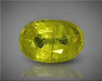 Natural Heated & Treated Yellow Sapphire Certified 4.09 CTS (DIN 86102 )