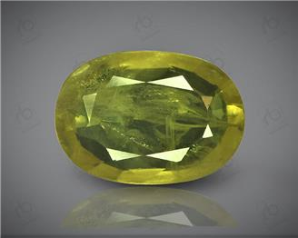 Natural Heated & Treated Yellow Sapphire Certified 4.07 CTS (DIN 86101 )