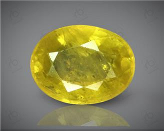 Natural Heated & Treated Yellow Sapphire Certified 3.32 CTS (DIN 86099 )