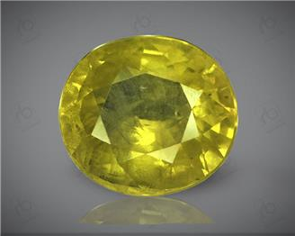 Natural Heated & Treated Yellow Sapphire Certified 4.38 carats (DIN 84669 )