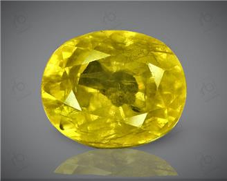 Natural Heated & Treated Yellow Sapphire Certified  4.12 carats (DIN 84662 )