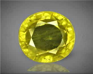 Natural Heated & Treated Yellow Sapphire Certified 4.36 carats (DIN 84650 )