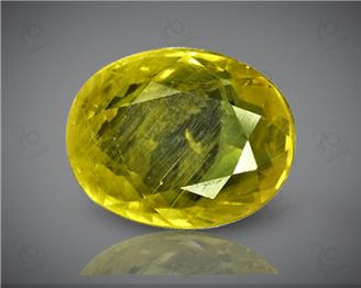 Natural Heated & Treated Yellow Sapphire Certified 4 carats (DIN 84647 )