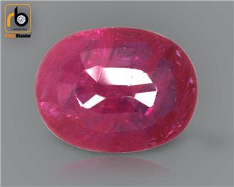 NATURAL RUBY (MANAK) (HEATED & TREATED) (MH) 1.22 CRT ( 29342 )