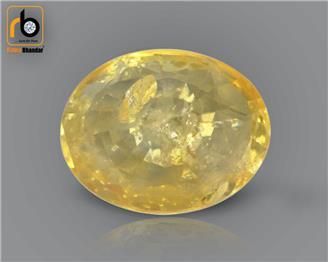 Heated & Treated Natural Certified Yellow Pokhraj 3.45CTS-2375