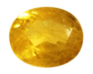 Natural Heated Treated Yellow Sapphire (PUKHRAJ) 4.11 carats (DIN 84660 )