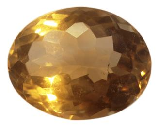 NATURAL YELLOW CITRINE (SUNELA) 5.86 CTS... ( 86363 ) (D)