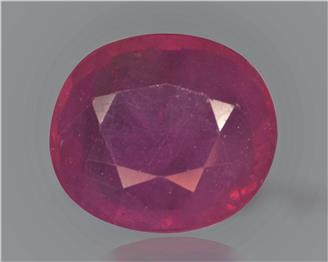 Natural Ruby (manik) Heated Treated Certified 5.25 CTS... ( 83283 )