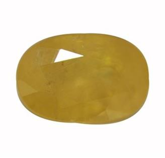 NATURAL HEATED TREATED YELLOW SAPPHIRE (PUKHRAJ) 5.53 CTS (0213)